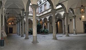 Cortile di Palazzo Strozzi, Firenze.