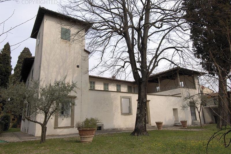 """Veduta di Villa """"Il Gioiello"""", Arcetri, Firenze."""