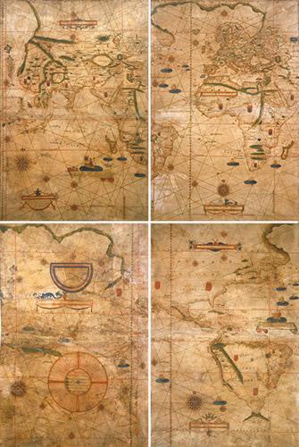 Bartolomeu Velho, Planisfero nautico in quattro fogli