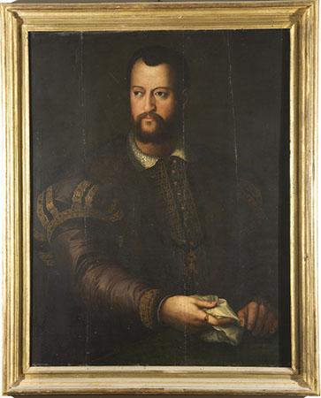 Bottega di Agnolo Bronzino, Ritratto di Cosimo I