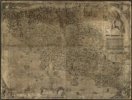 """Giuseppe Rosaccio, Geografia della Toscana detta """"Carta del cavallo"""""""
