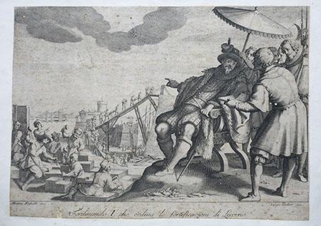 Jacques Callot, Ferdinando I ordina le fortificazioni di Livorno