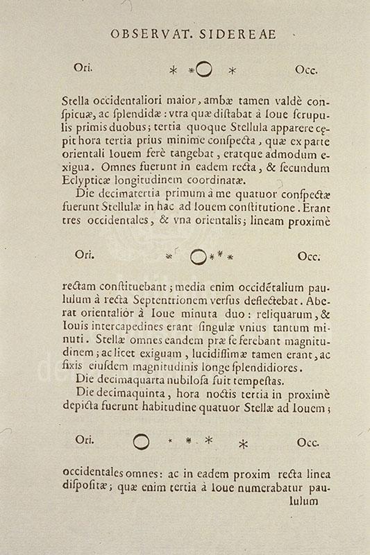 GALILEO GALILEI, Sidereus nuncius, Venice, 1610